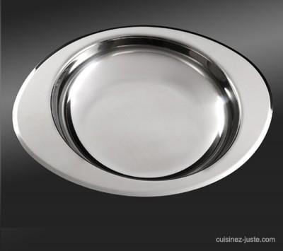 Plat inox 24 cm accessoire cuisson et service for Plat cuisine inox