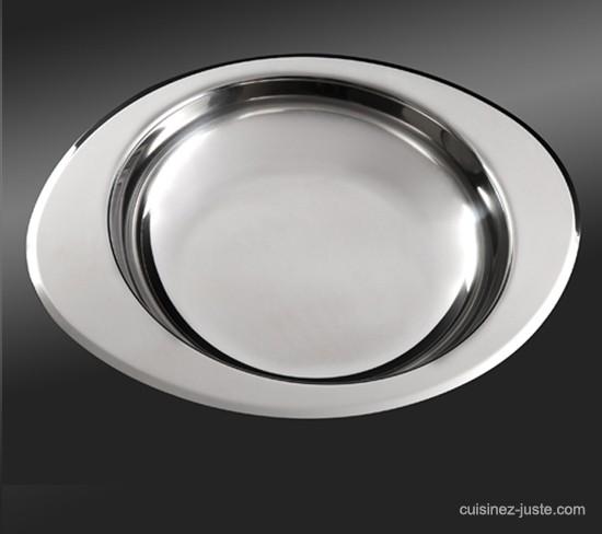 Plat inox 24 cm accessoire cuisson et service for Plat cuisson inox