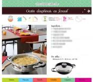 Fiche recette Légumes : Gratin dauphinois au fenouil - PDF