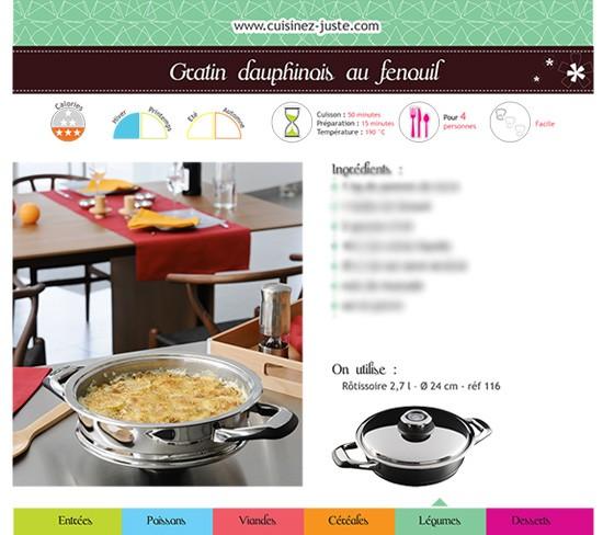 fiche recette plat chaud gratin dauphinois au fenouil cuisine saine. Black Bedroom Furniture Sets. Home Design Ideas