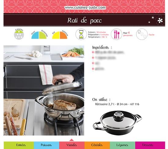 Fiche recette Viande : Rôti de porc - PDF