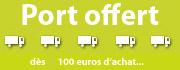 Port offert dès le 1er euro d'achat